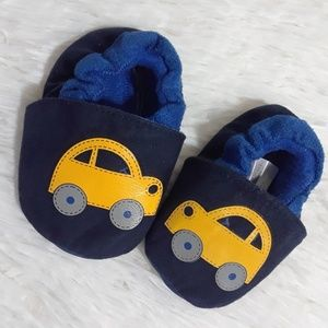 Carter's Child Of Mine Yellow Car Baby Slippers